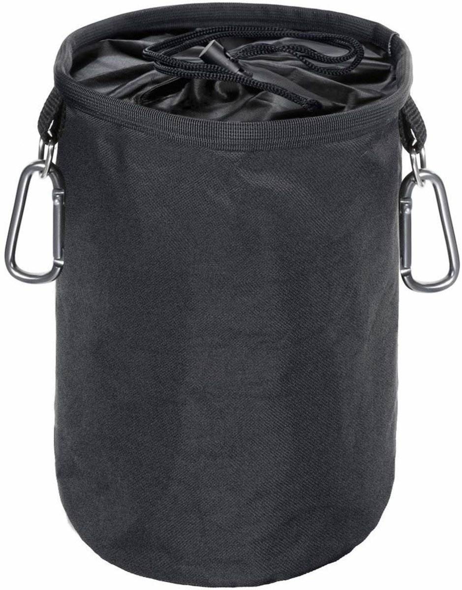 Large Peg Bag Weather Resistant Clothes Bag for Pegs with 2 Hanger Clips