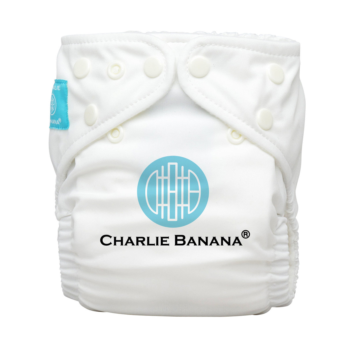 Reusable Infant Diaper CB Logo White (Each comes with 1 insert)