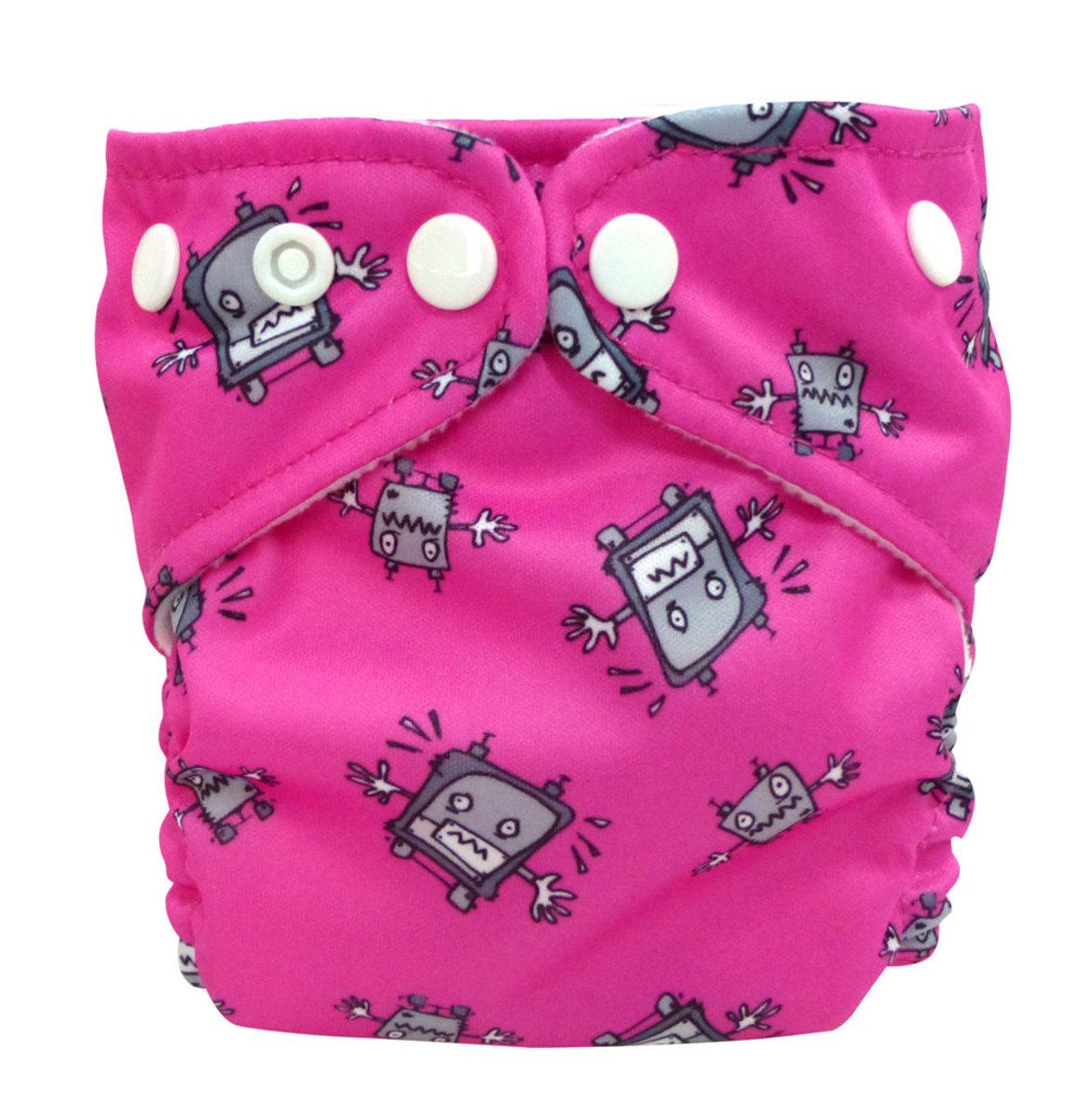 環保初生兒尿布 Robot Girl 附1塊片芯