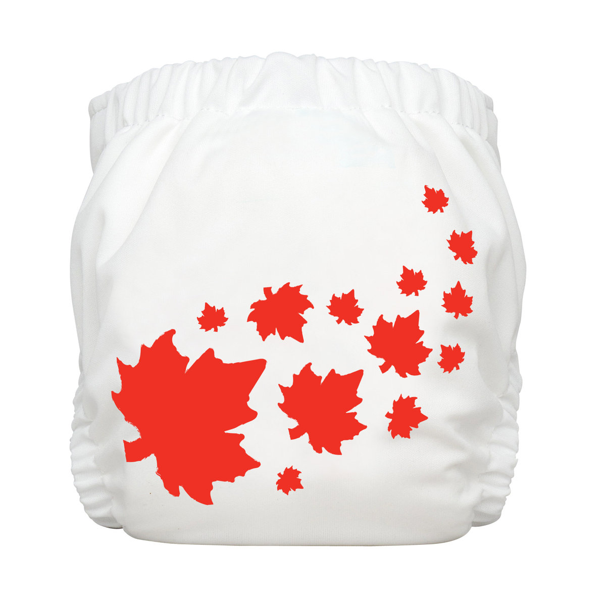 Reusable Infant Diaper Maple Leaf White (Each comes with 1 insert)