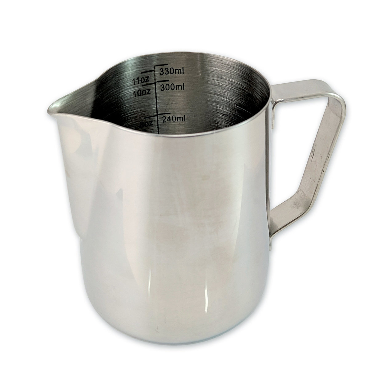 Stainless Steel Coffee Milk Jug Milk Frothing Pitcher 330mL