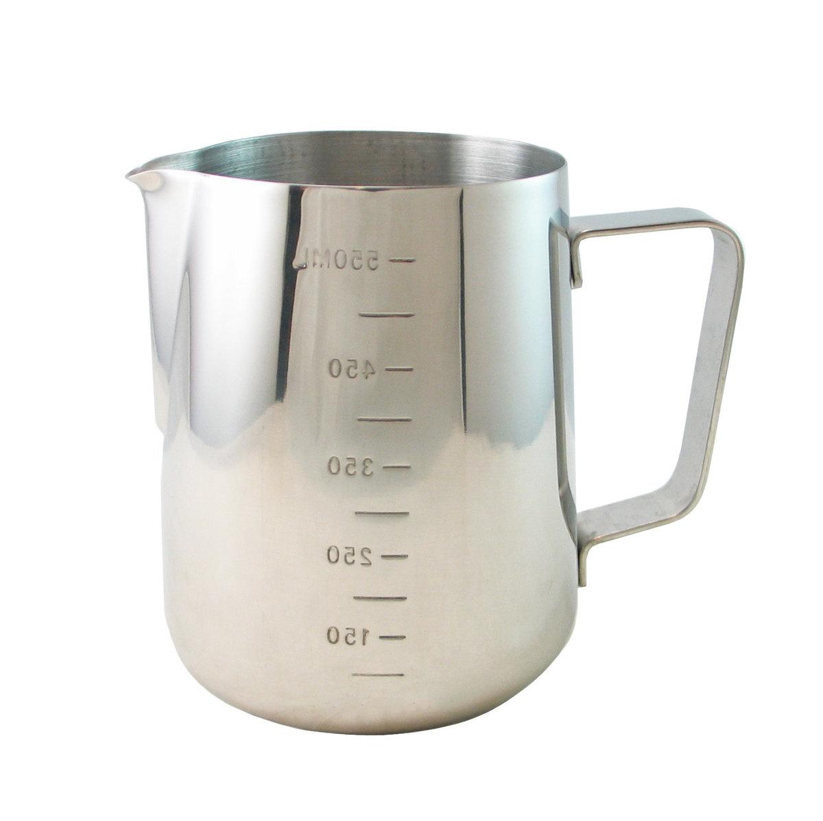 Stainless Steel Coffee Milk Jug Milk Frothing Pitcher 550mL