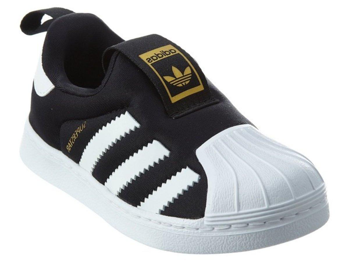 Adidas - Superstar 360 Casual Sport Toddler Shoes (UK 7 /  EU23.5) - Black