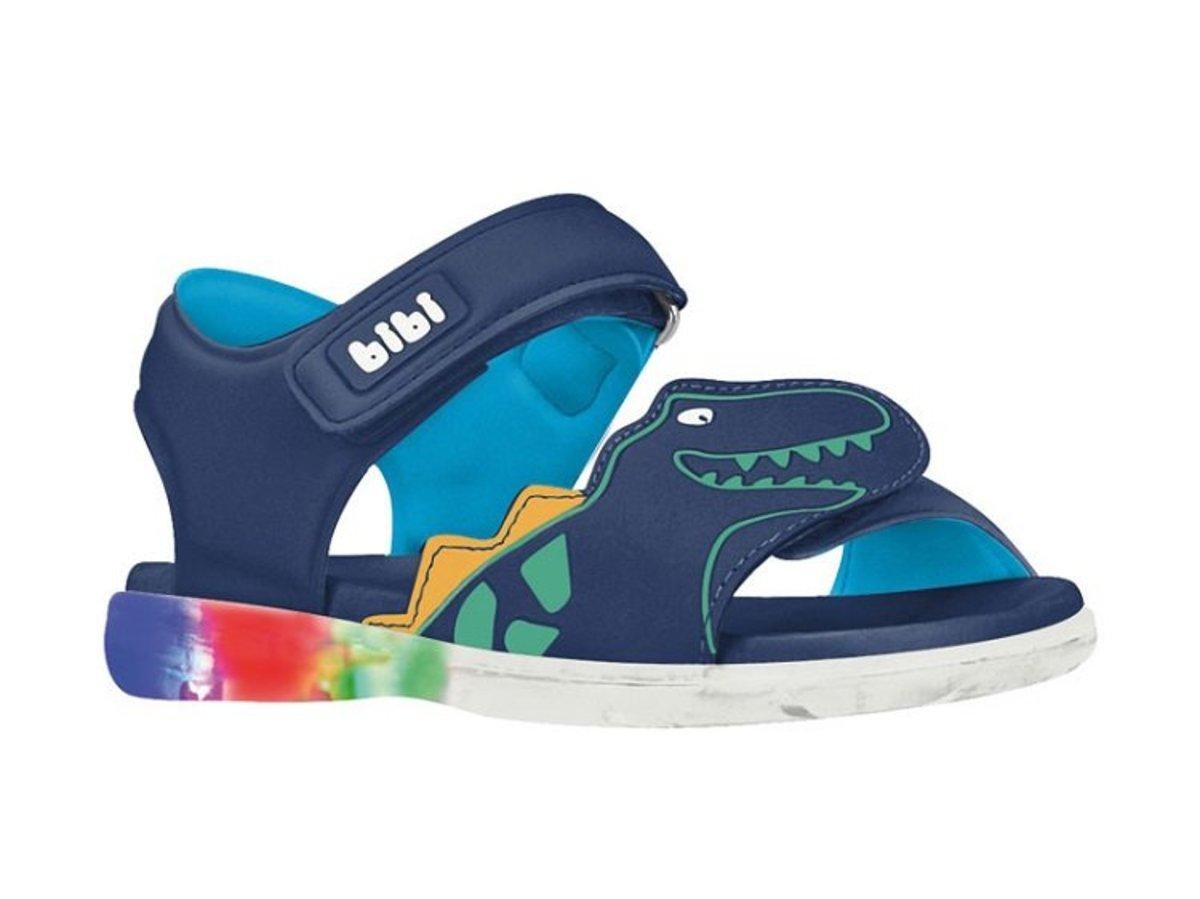 Bibi 男童休閒閃燈涼鞋 藍色恐龍  (EU22 ~ EU32)