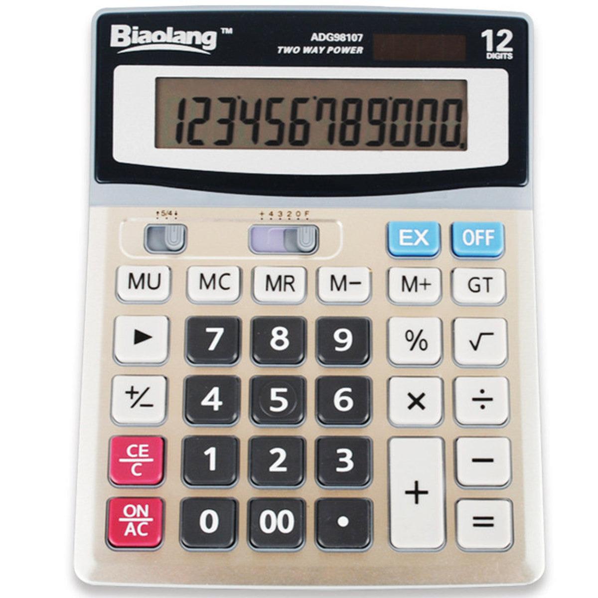 Metal panel 12 Digits Solar Calculator
