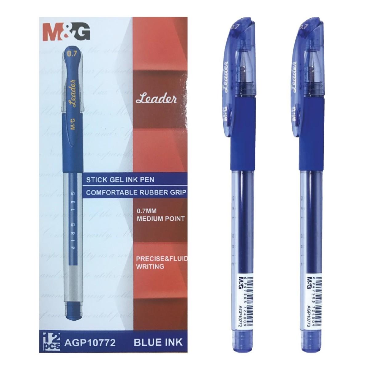 Leader 拔蓋式啫喱筆 (0.7mm) 藍【三支裝】