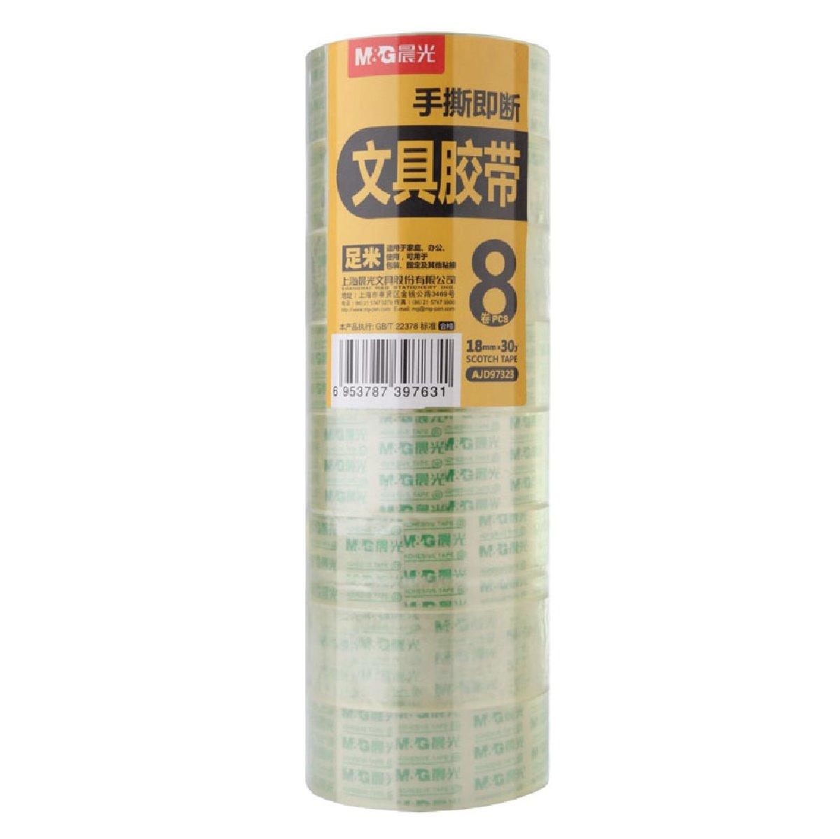 Transparent Tape 8 Rolls (18mm x 30y)