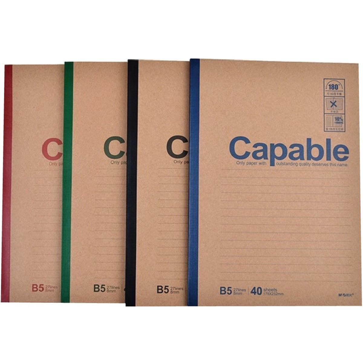 B5 Notebook (40page)【4Pcs】