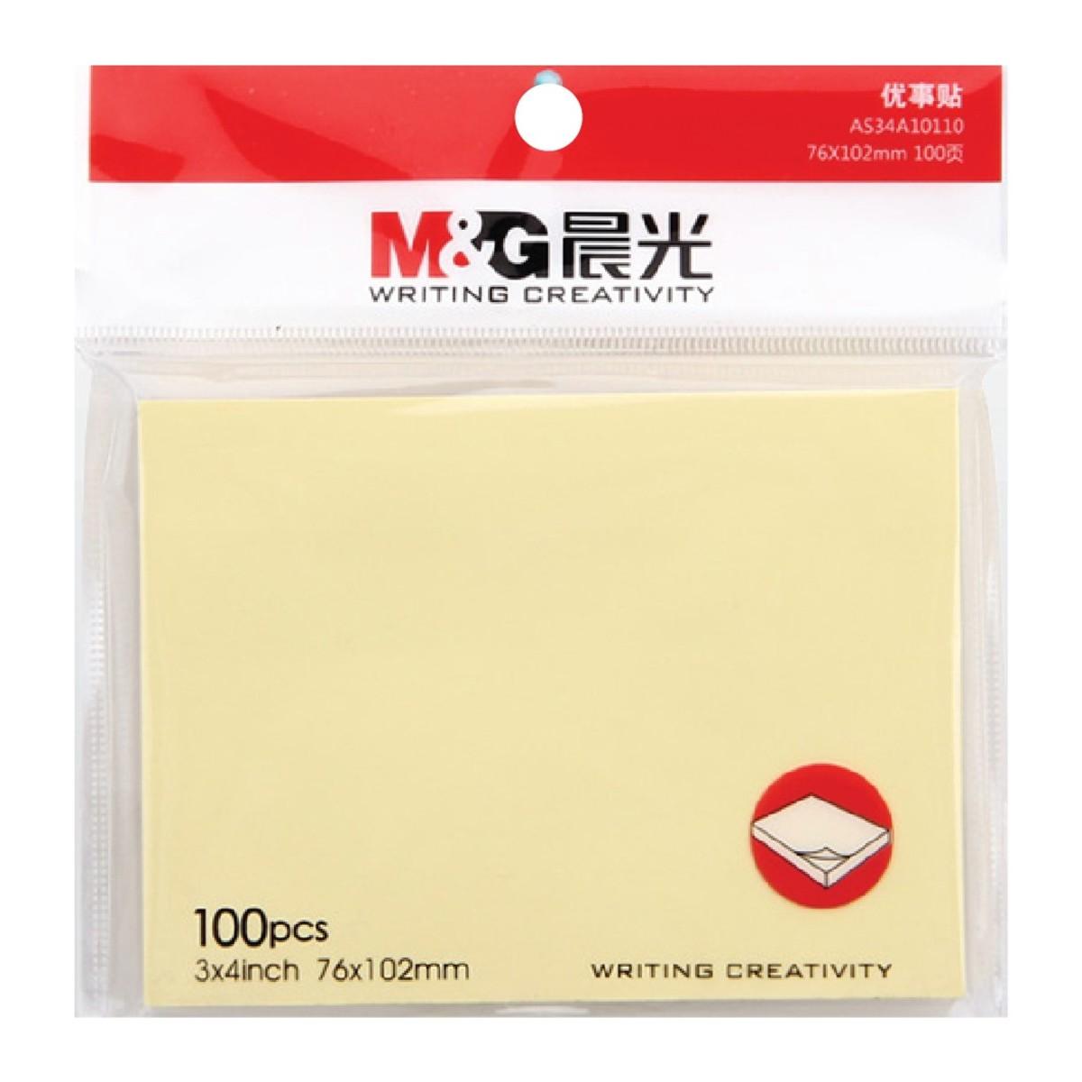 Sticky Notes 100page (76 x 102mm)【5Pcs】