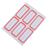 Self-Adhesive Label 6Pcs(10page) (23 x 49mm)【5Pcs】