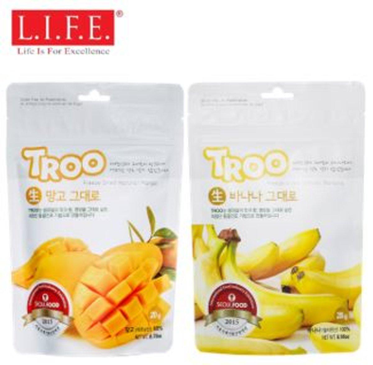 獲獎韓國天然冷凍乾果(芒果+香蕉)