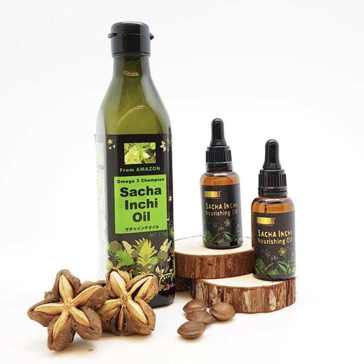 Organic Sacha Inchi Oil Package (270g x1; 30ml x 2)
