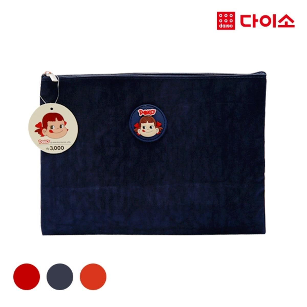 FUJIYAPEKOPOKO One point flat pouch L - Red