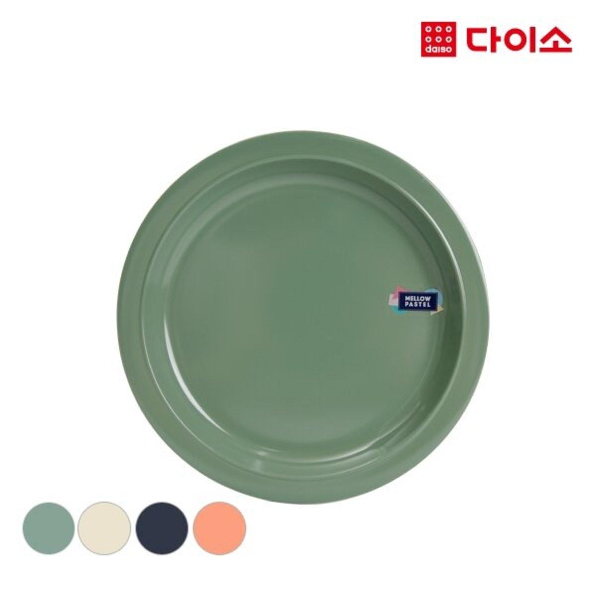 Plastic Round Plate - Green