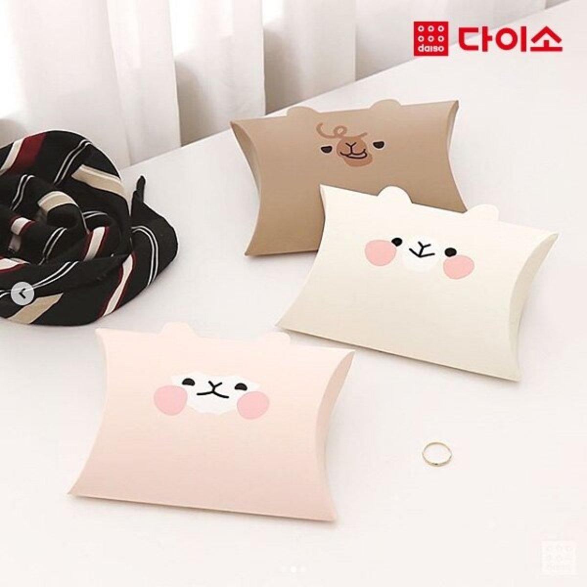 羊駝DIY紙盒 5P - 粉紅色