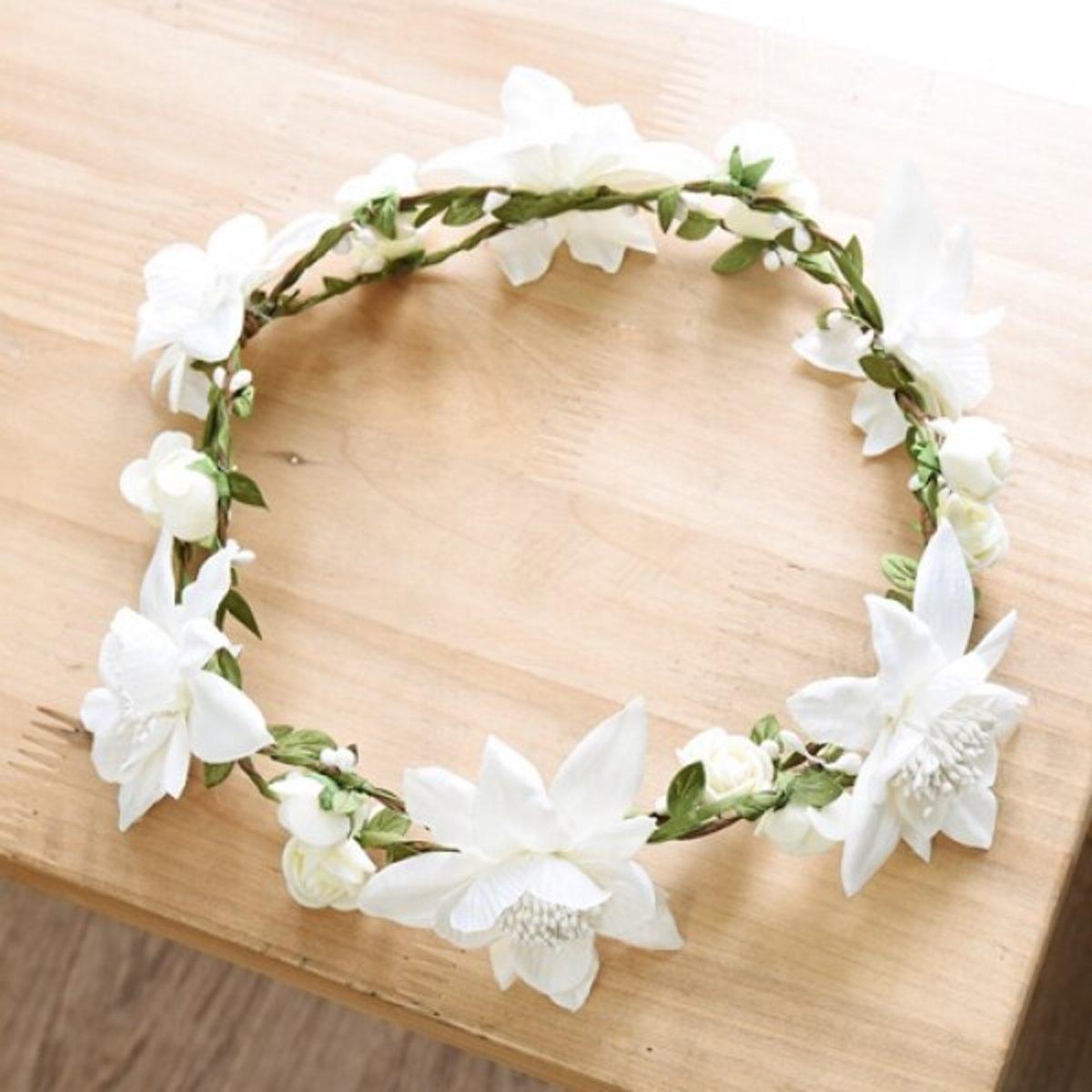 花環 - 白色