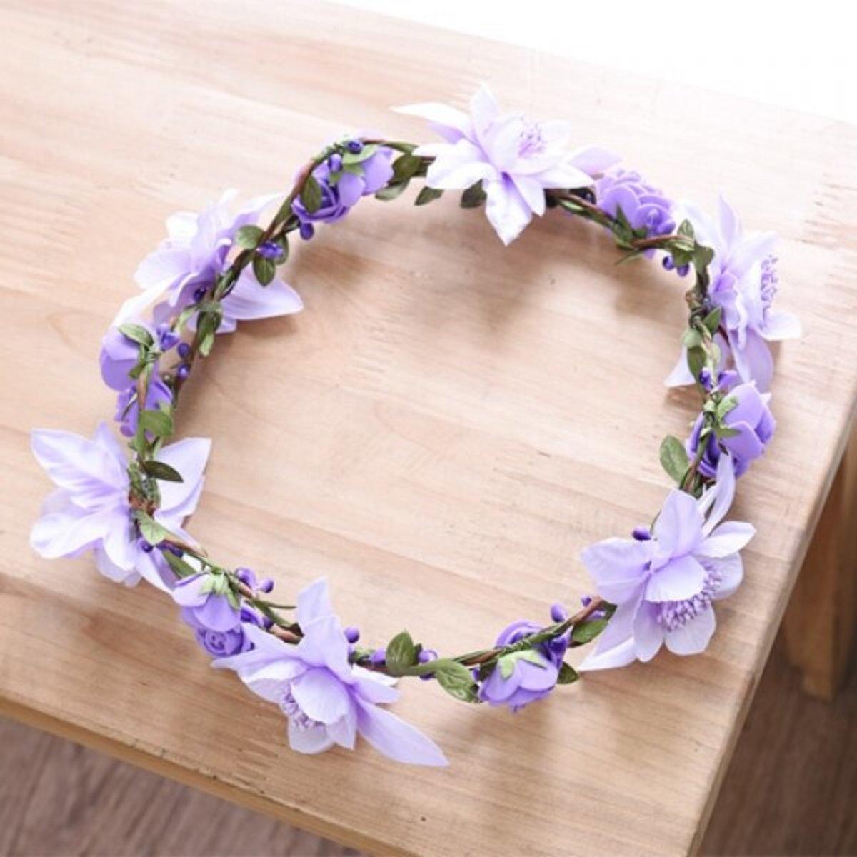 Wedding Garlands - Purple