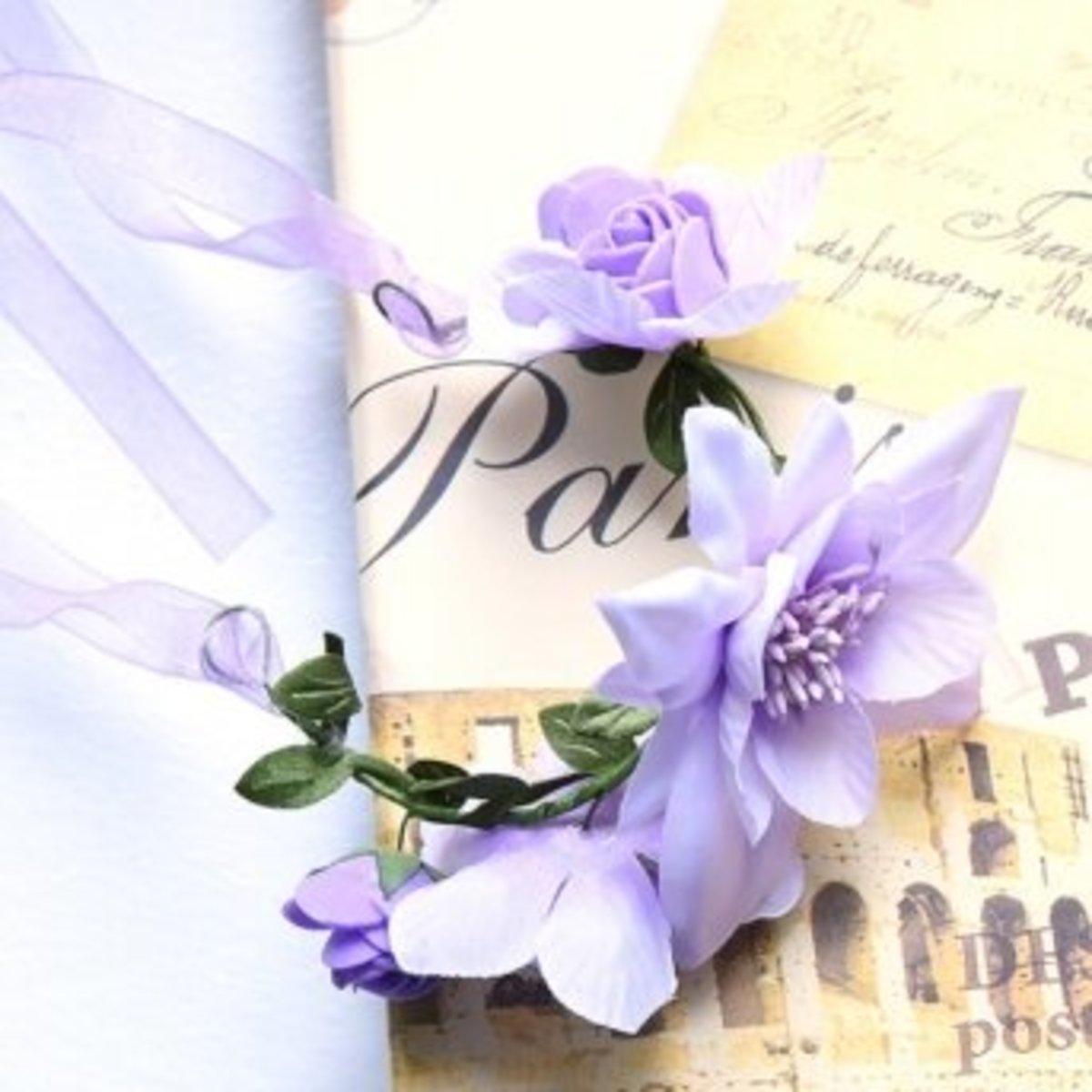 花朵手環 - 紫色