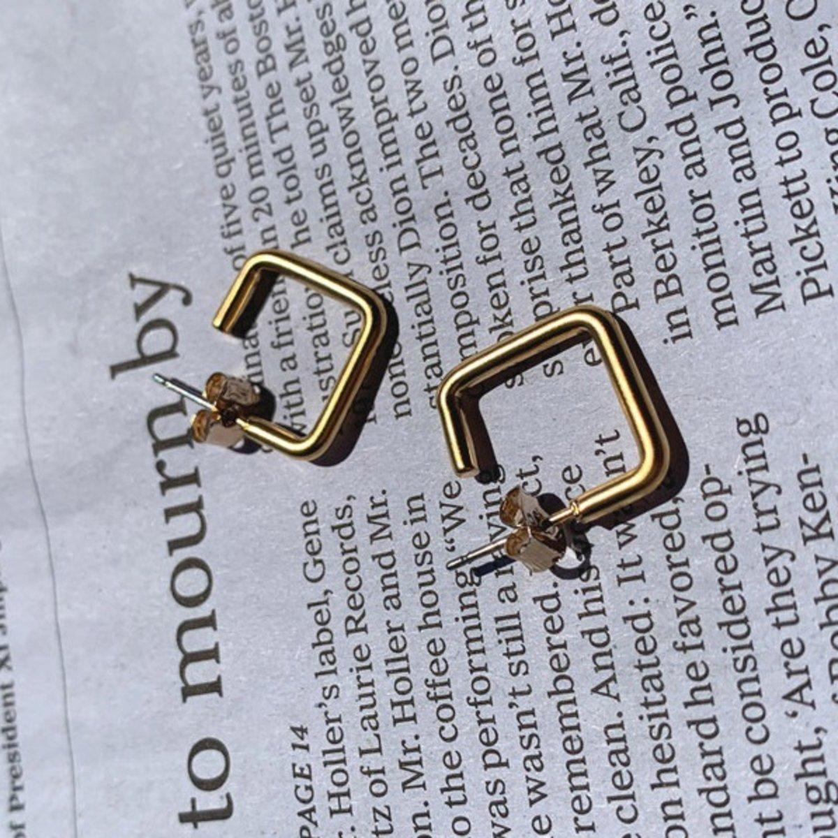 And Metal Earrings