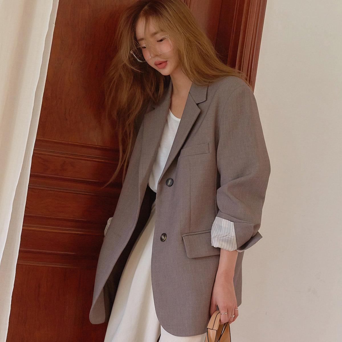 單襟西裝外套