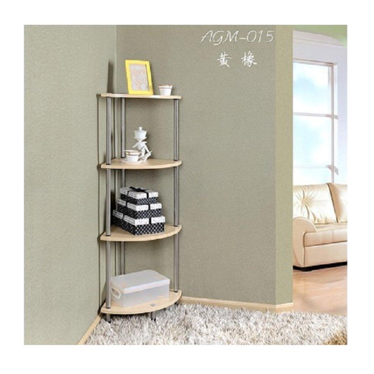 4 layers shelf - yellow green