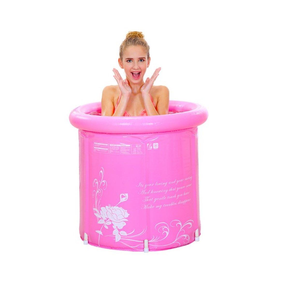摺合式浸浴桶-粉紅