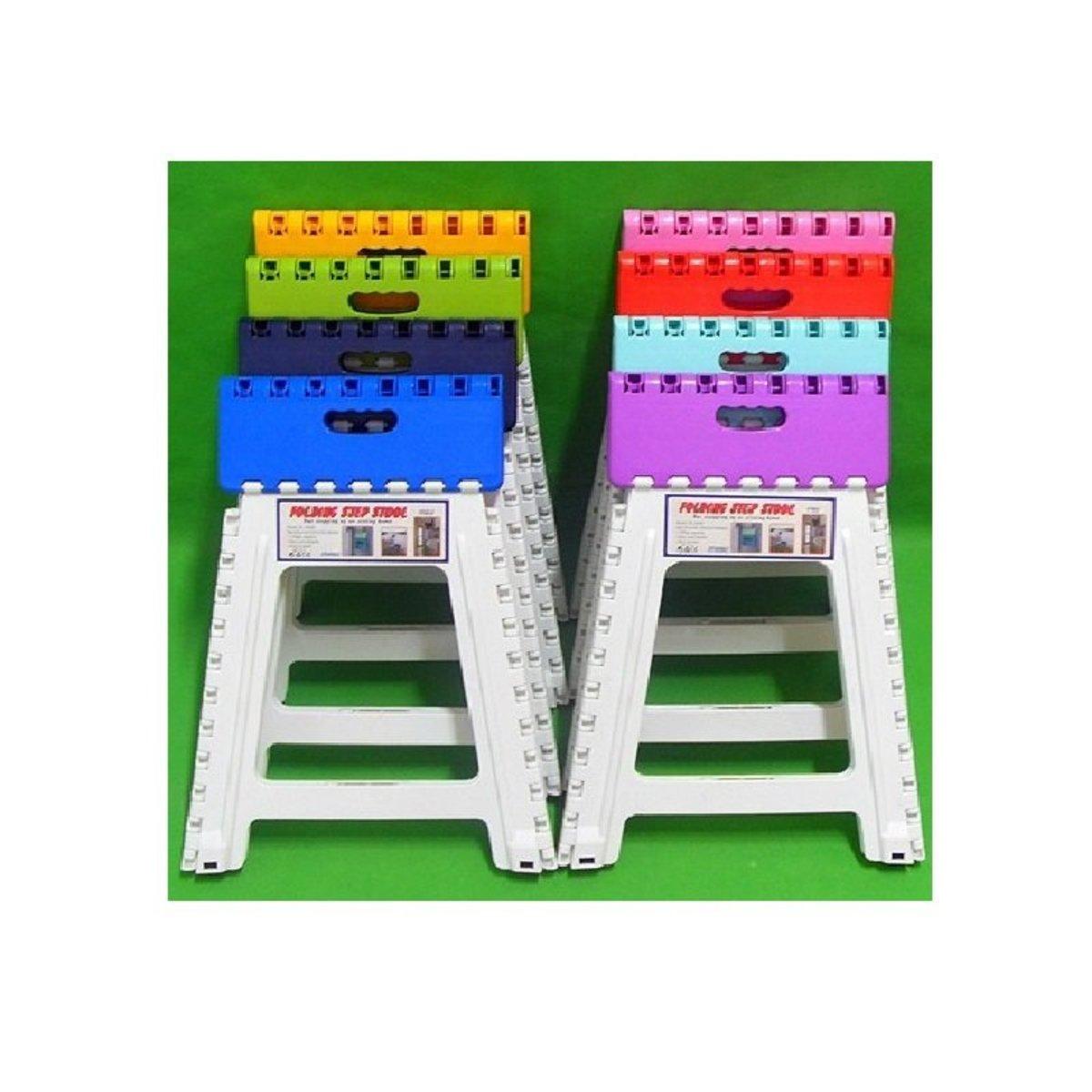 摺合式摺凳(45cm高)-2件裝(顏色隨機)