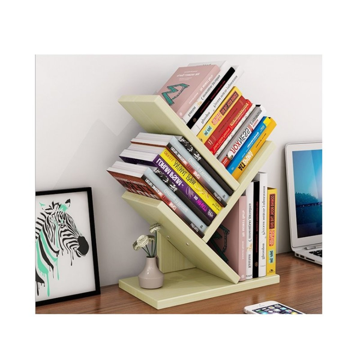 Desktop upright bookshelf