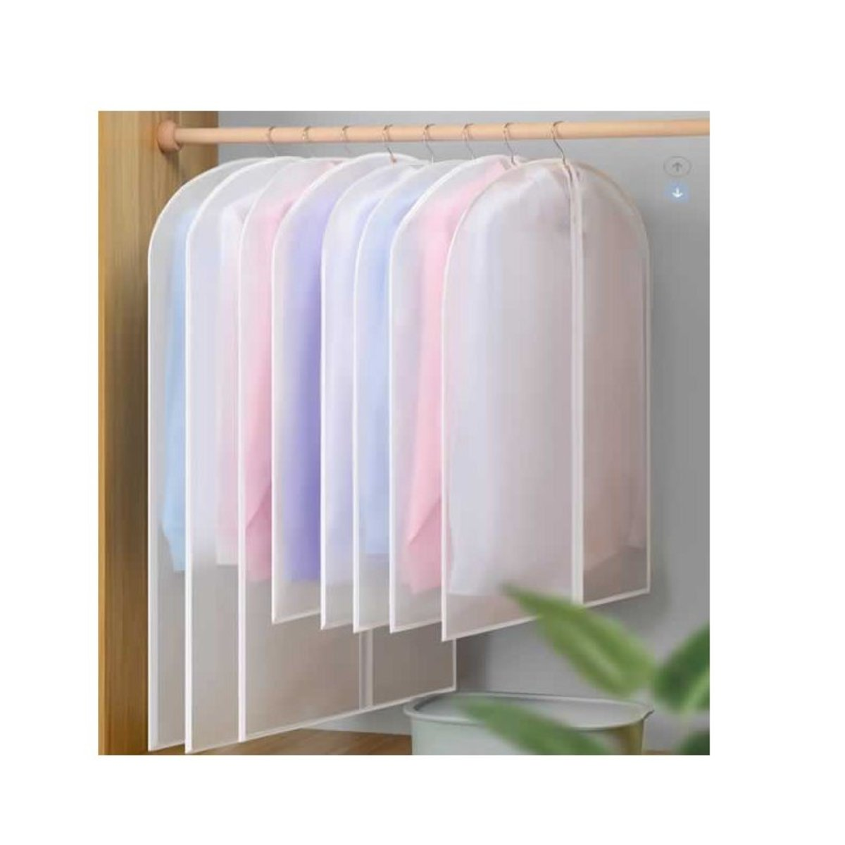 Translucent dustproof clothing bag (60cmX120cm)-10 pieces