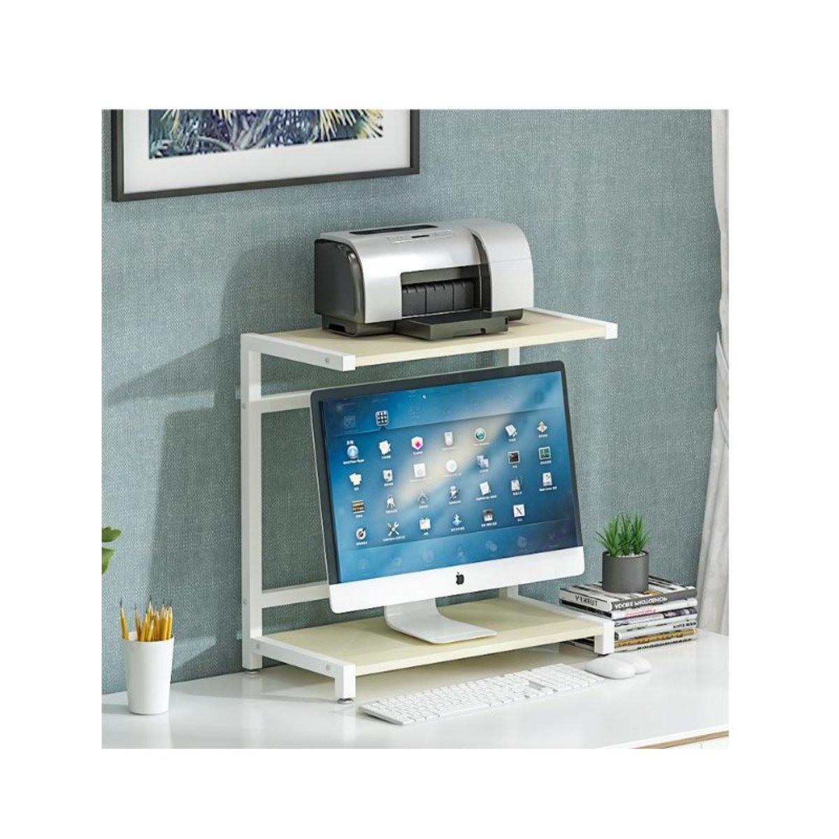 Computer monitor printer rack