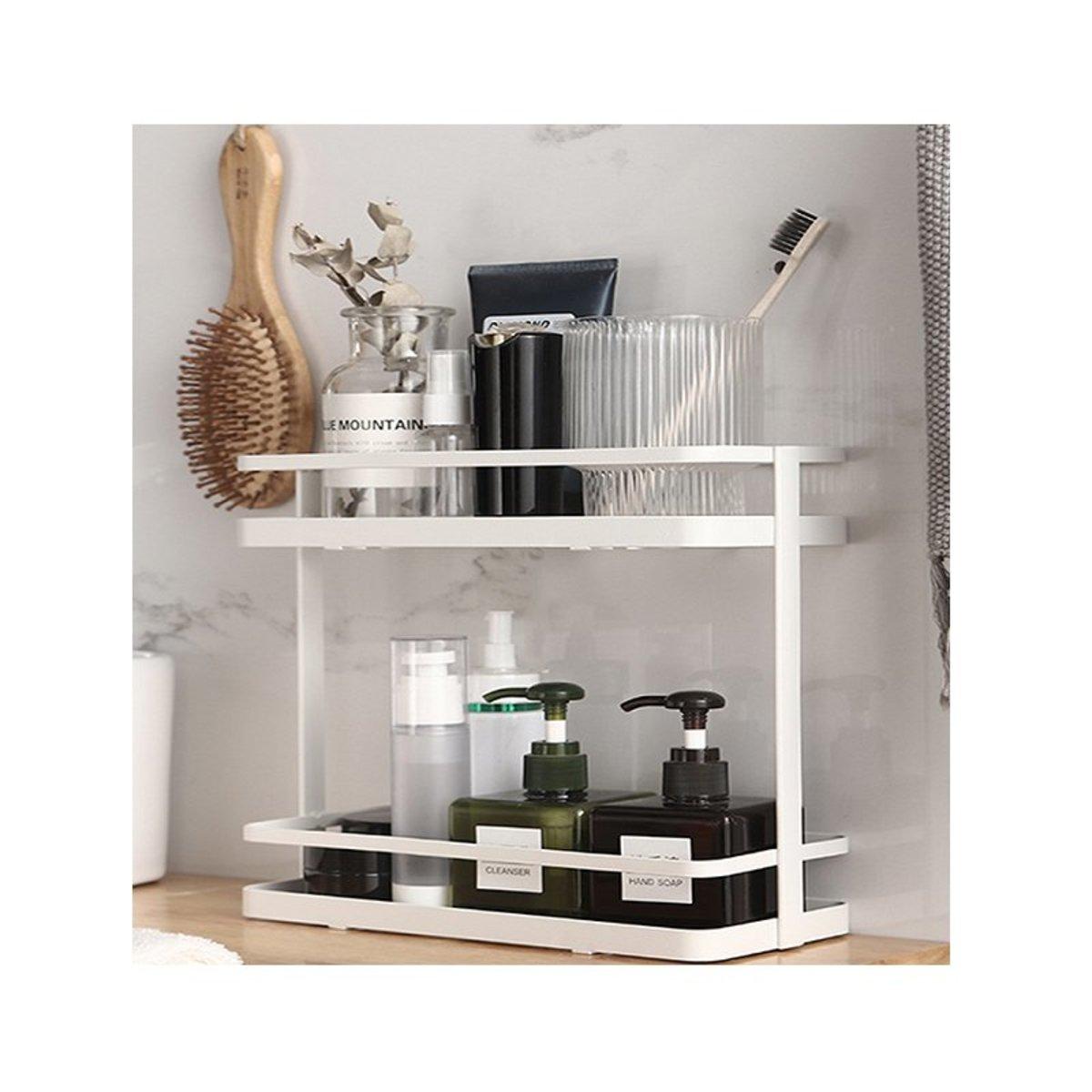 廚房浴室雙層金屬置物架