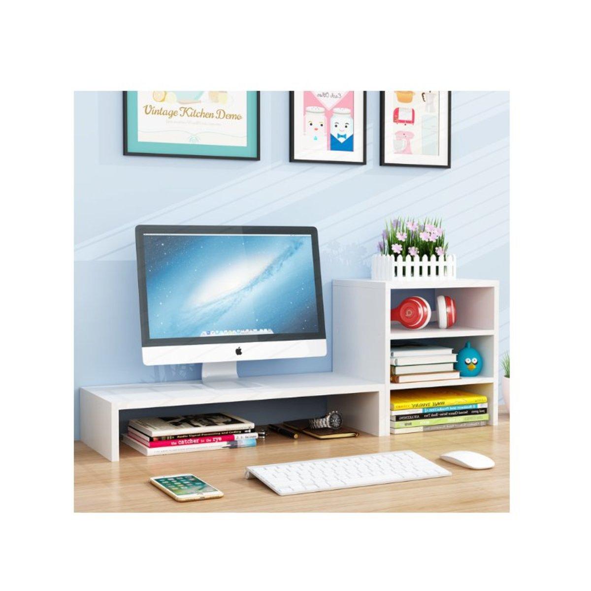 電腦顯示器桌面增高組合架