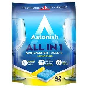 英國潔 英國進口 洗碗碟機專用全效檸檬洗碗碟清潔劑 42片裝【平行進口】