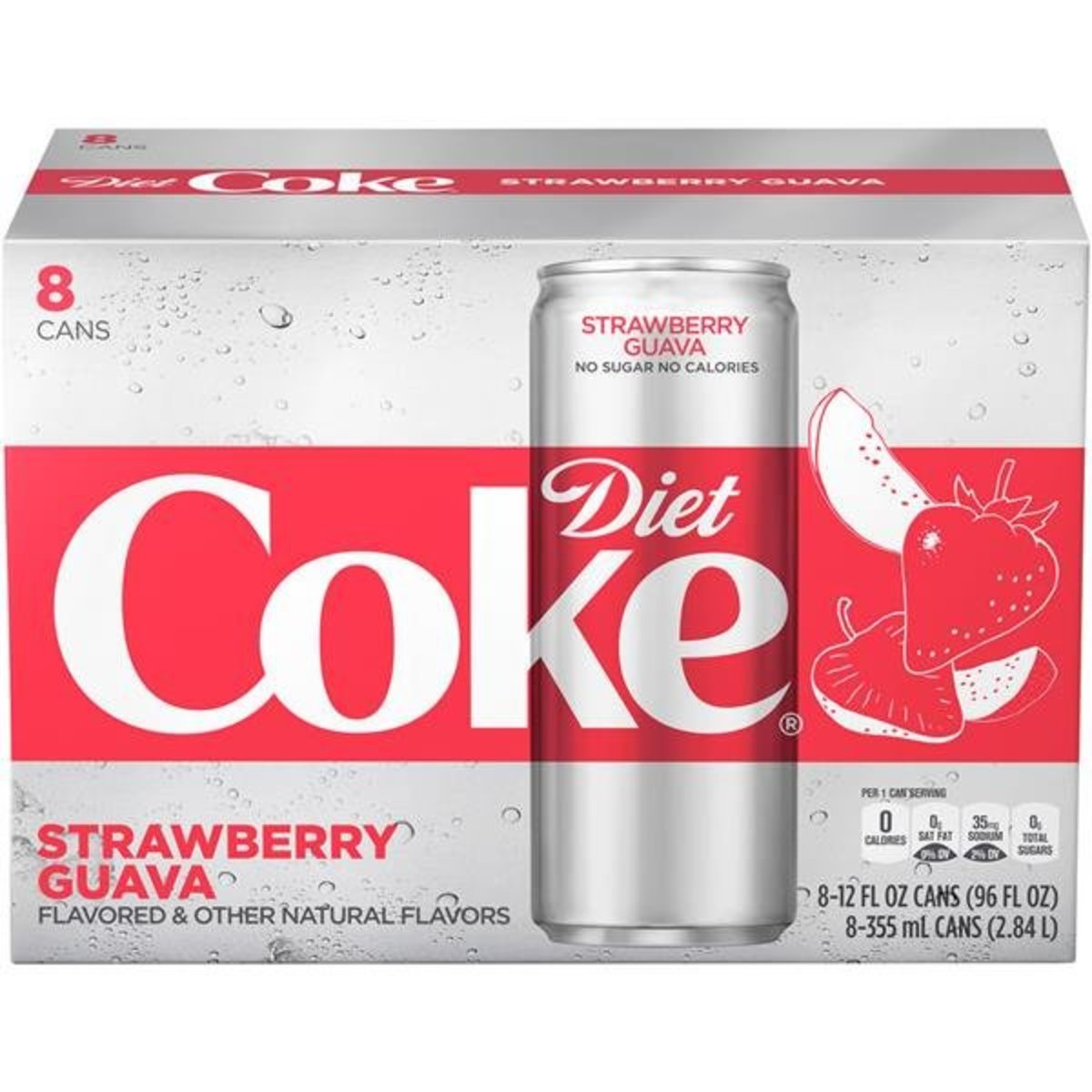 Diet Coke Strawberry Guava 355 ml x 8