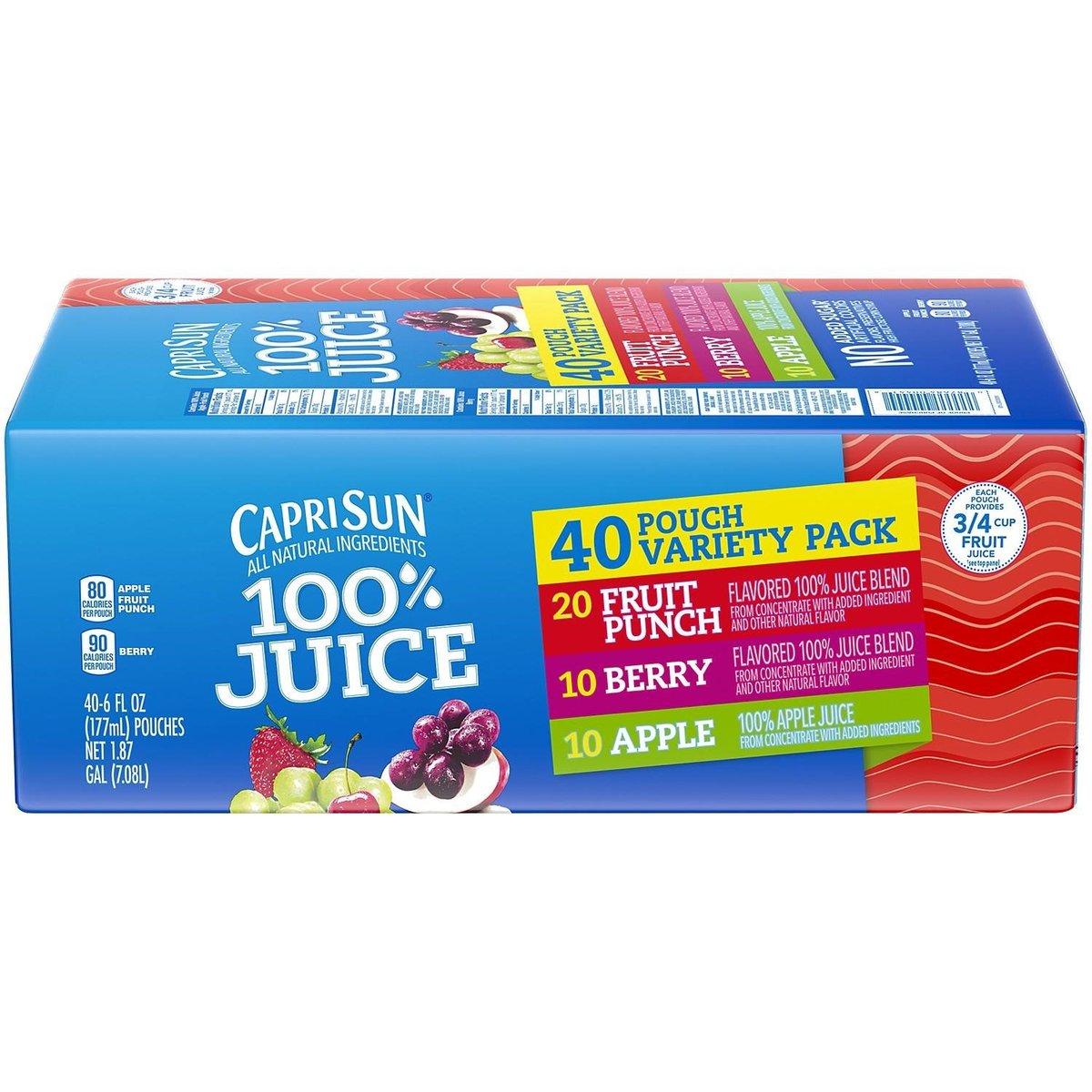 100% Juice Variety Pack 177ml x 40 packs