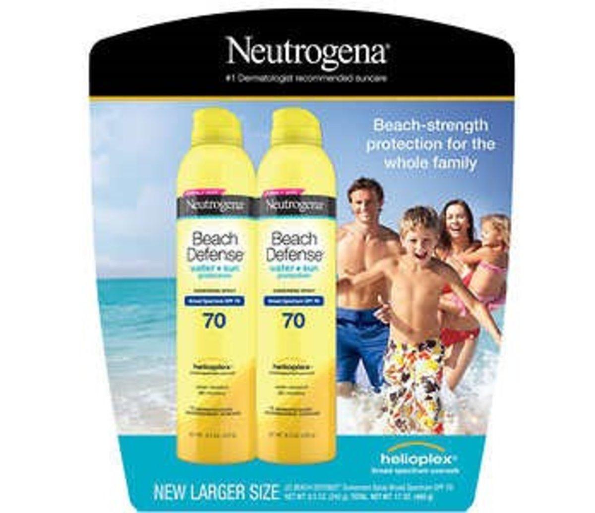 Neutrogena Beach Defense SPF 70, 2 x 251ml