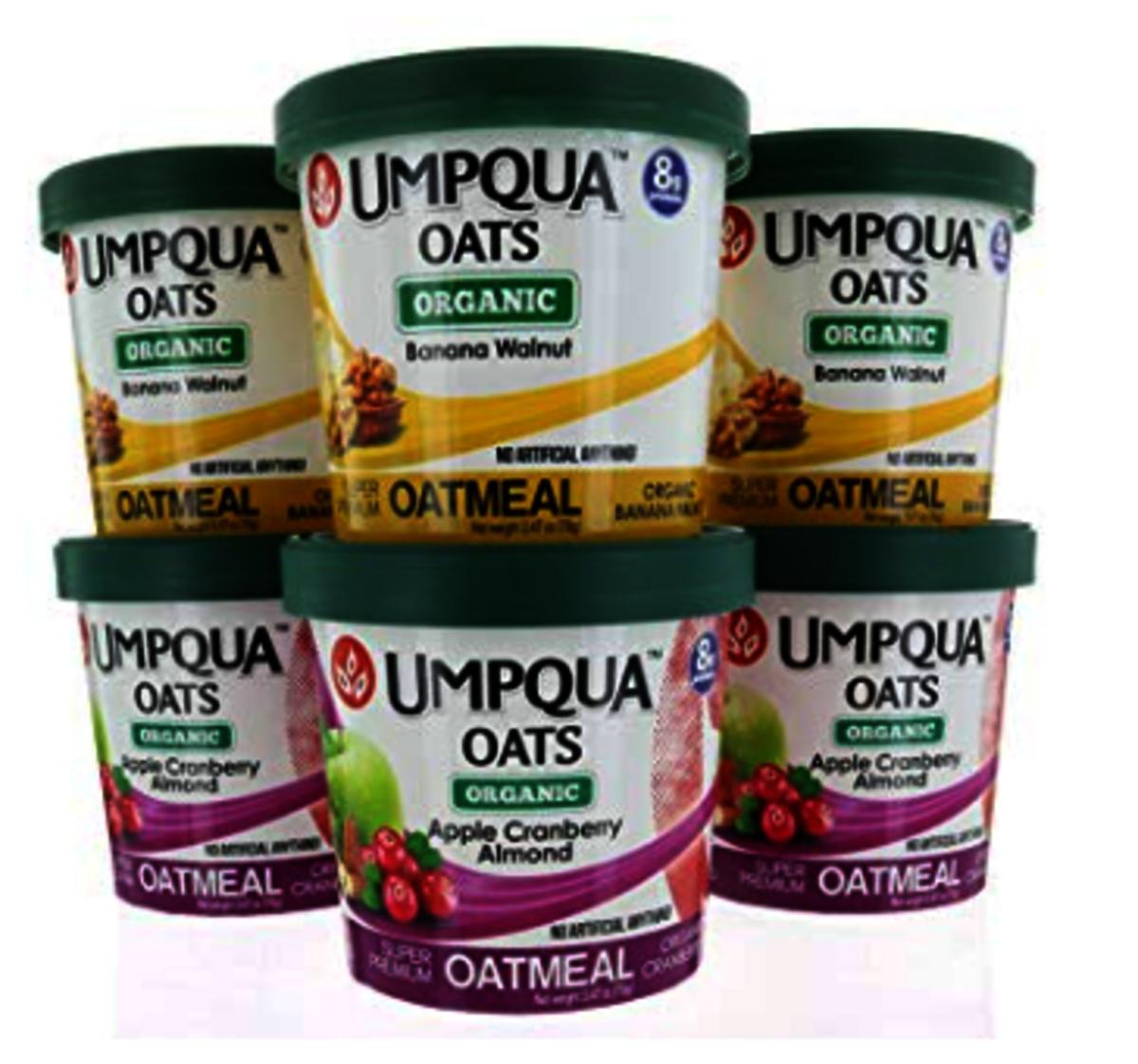 美國有機即食燕麥片  Umpqua 6 x 70g