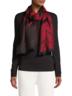 Chevron Wool Scarf (Red/Black)