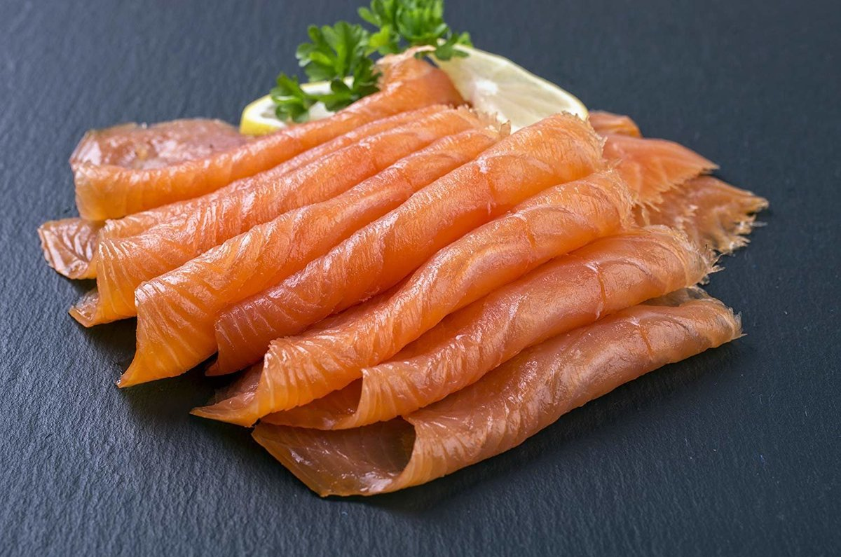 煙三文魚100g