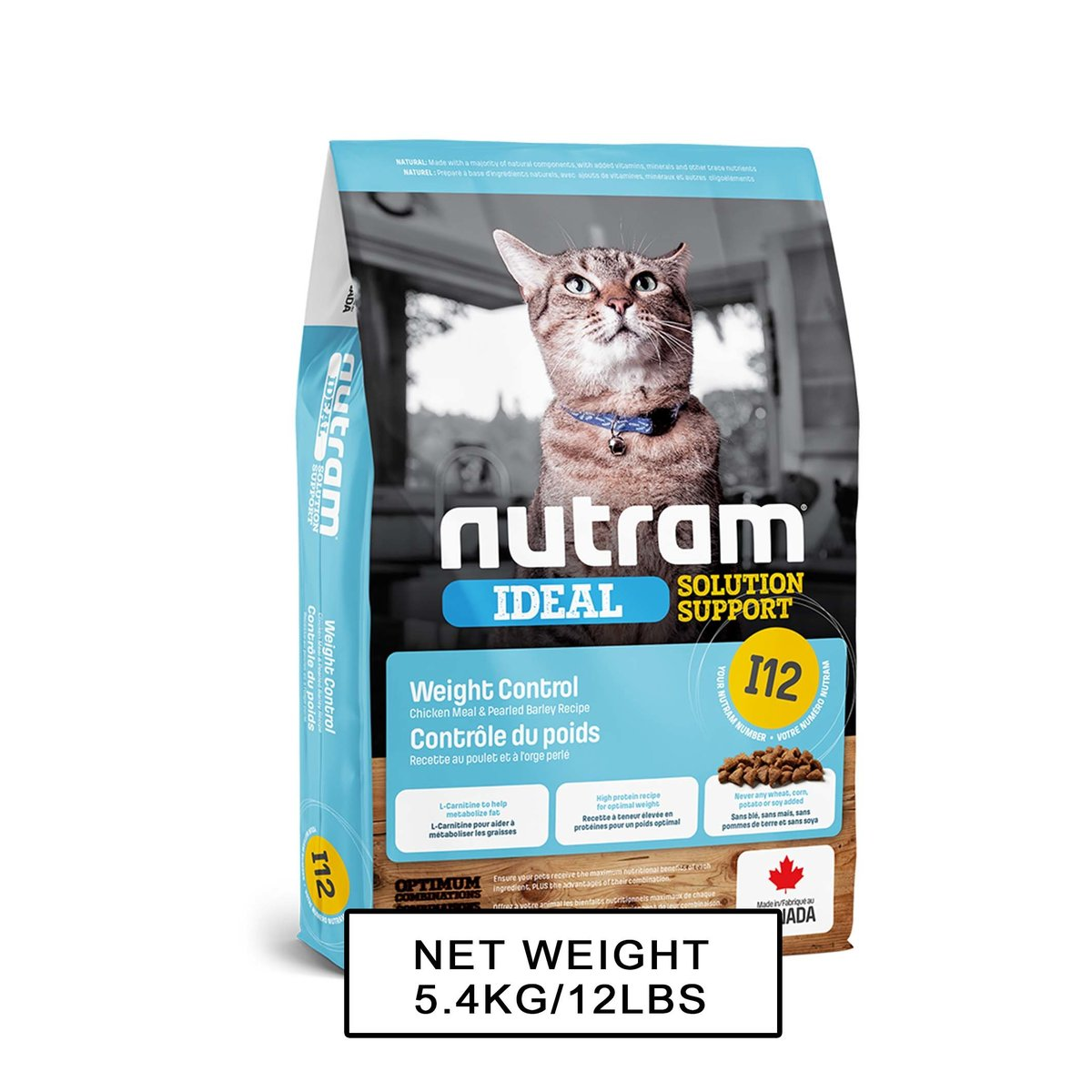 I12 Nutram Ideal Solution Support Weight Control Cat Food 5.4kg