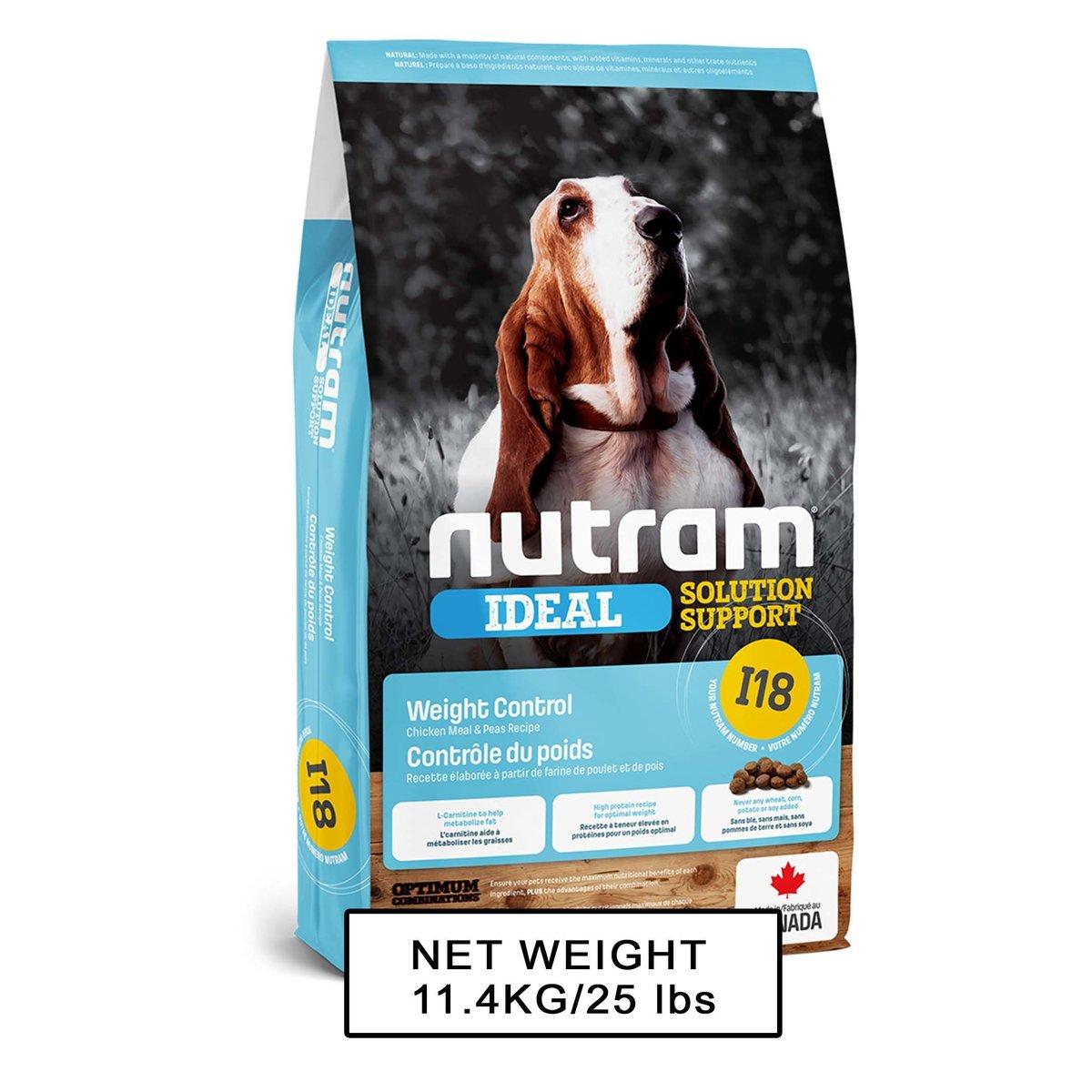 I18 Weight Control Dog Food 控制體重狗糧 11.4kg