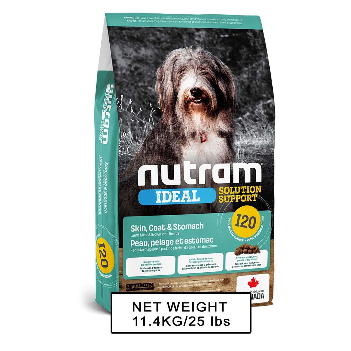 Nutram Ideal EU I20 Sensitive Dog - Skin, Coat & Stomach  11.4kg