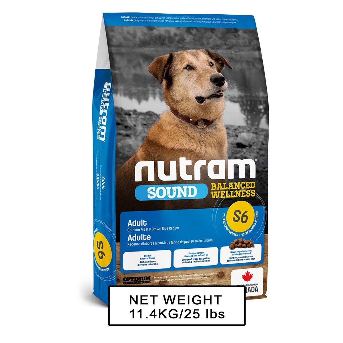 Nutram Sound DOM S6 Adult Dog 11.4kg