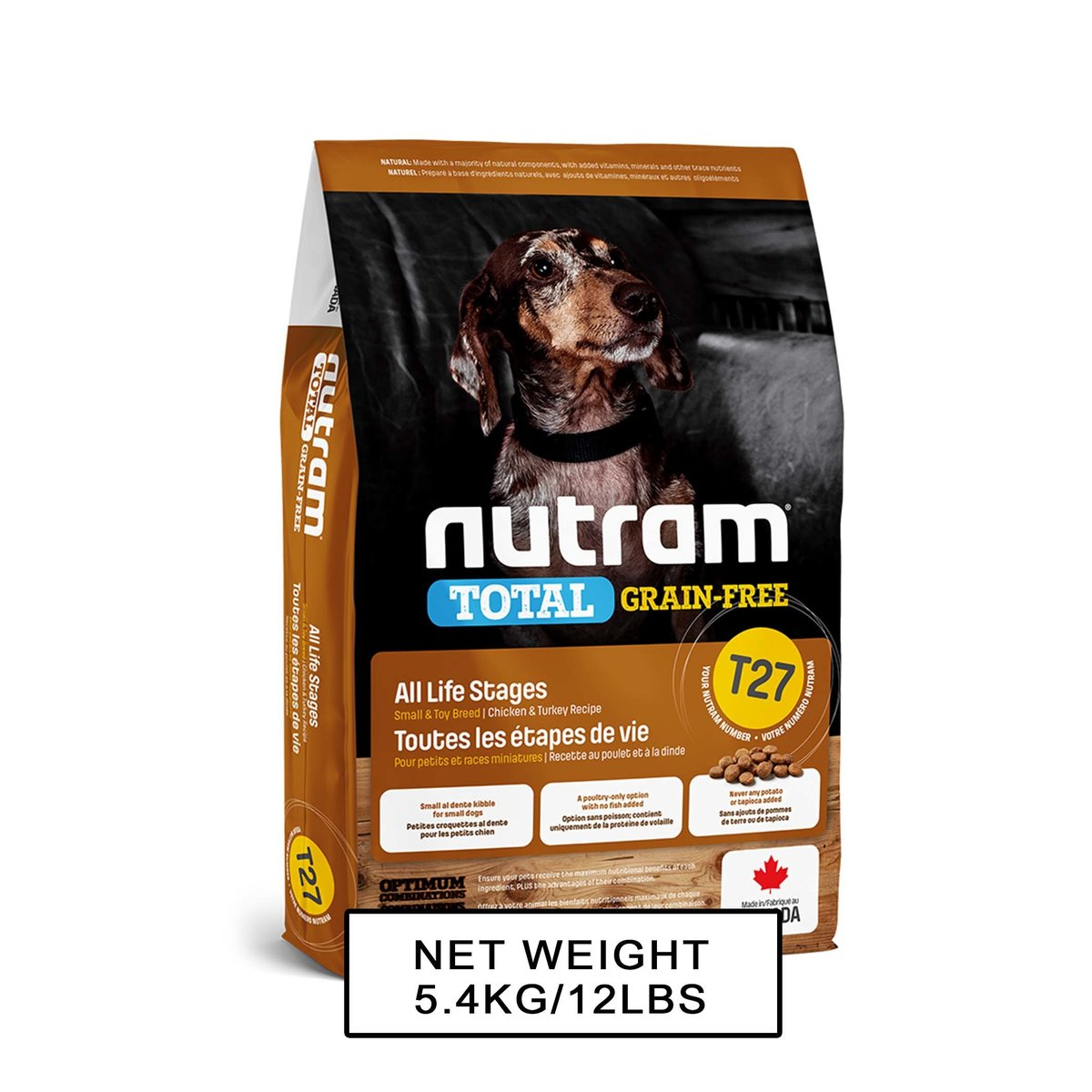 T27 Grain Free Dog Recipe - (Turkey & Chicken) Small Breed 5.4kg