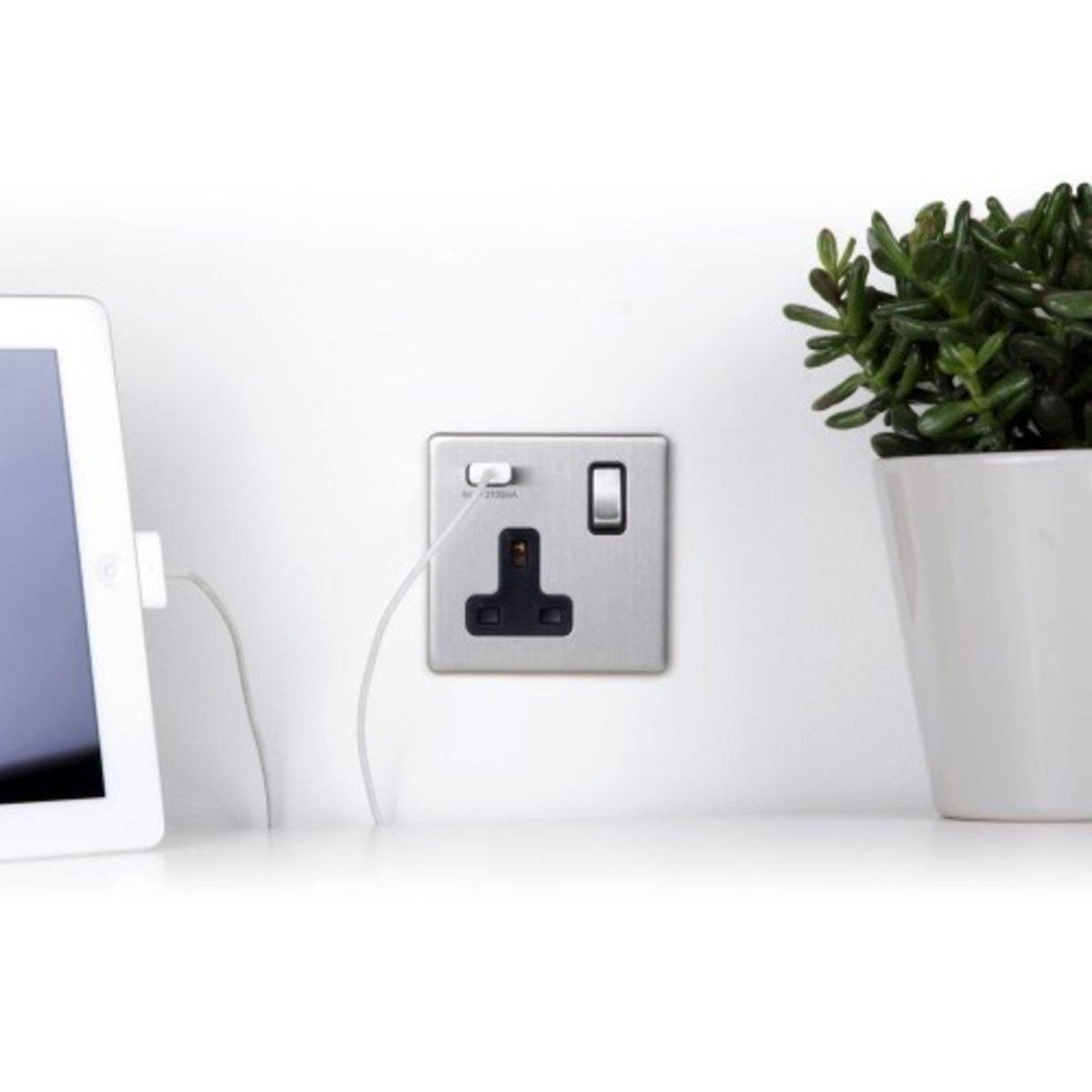 13A 1-Gang Wall Socket with USB Charger SK-1G1U