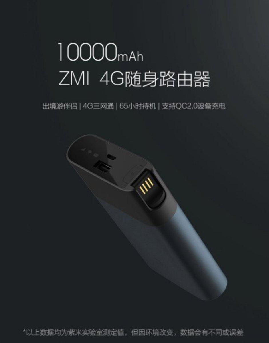 小米 | ZMI 4G Wifi Router Mobile Hotspot With 10000mAh