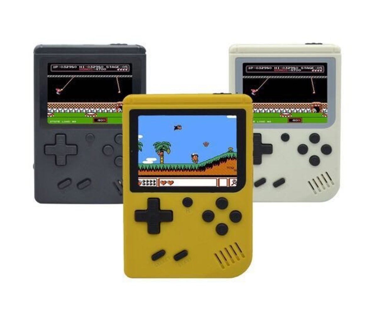 168 Games Retro FC Handheld Game Console - YELLOW