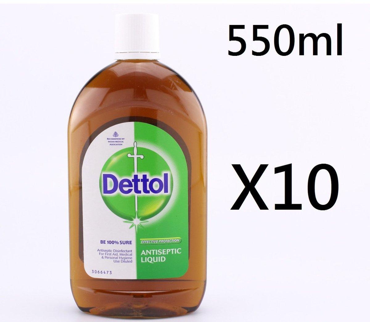 (10支) 550ml 滴露Dettol Antiseptic liquid  (平行進口)-(大)