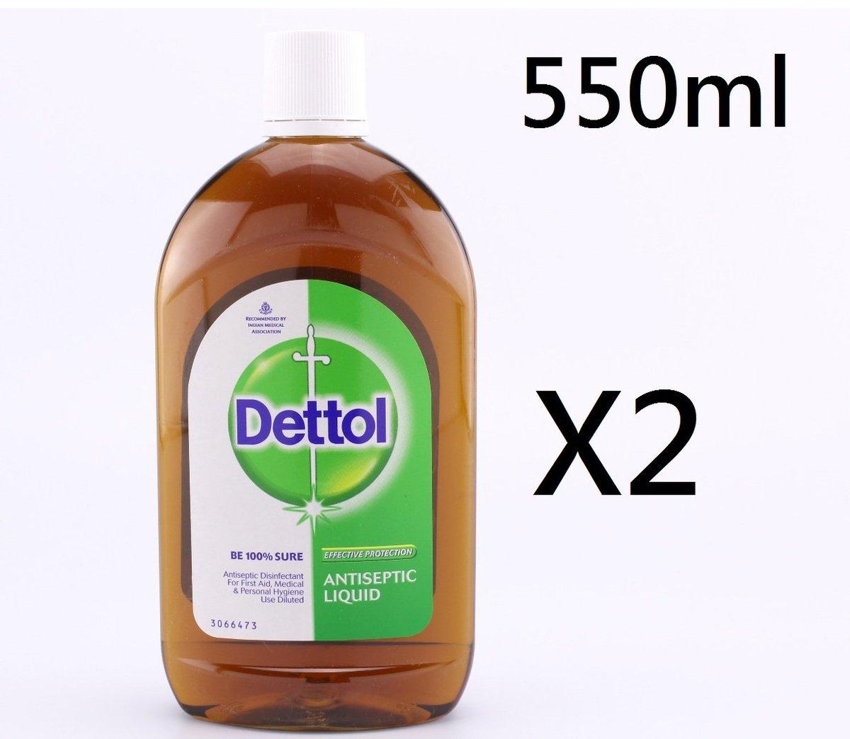 (2支) 550ml 滴露Dettol 消毒殺菌藥水  (平行進口)-(大)
