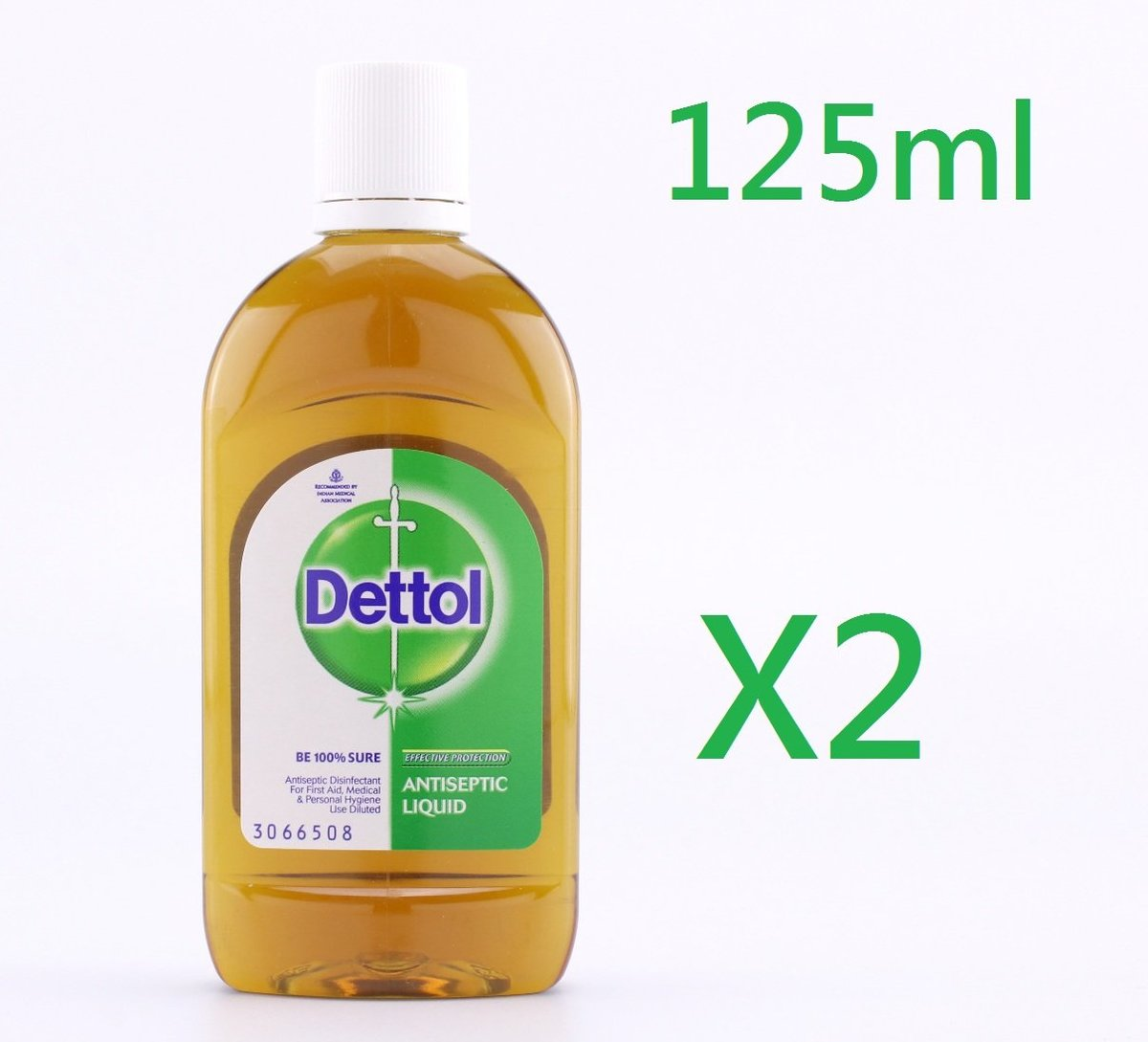 (2支) 125ml 滴露Dettol 消毒殺菌藥水  (平行進口)-(中)